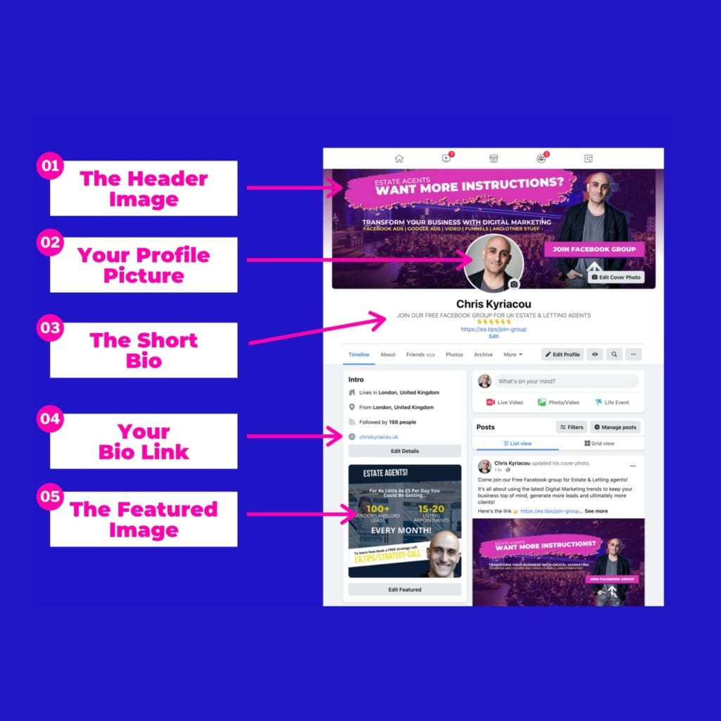 How to optimise your Facebook profile to generate FREE leads